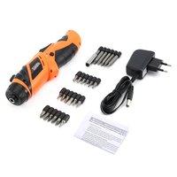 X power 4 8 V Wiederaufladbare Akkuschrauber Bits kit Schraube Power Fahrer Bohrer Power Werkzeuge mit LED Beleuchtung-in Elektroschrauber aus Werkzeug bei