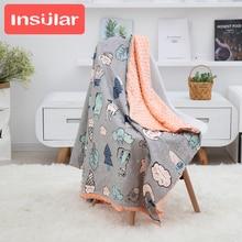 2020 New Baby Blanket & Swaddling Newborn Thermal Soft Cotton Blanket Cartoon Bedding Set Toddler Crib Bed Stroller Blanket