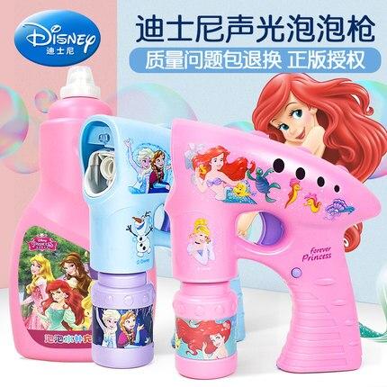 Filles congelées elsa anna neige filles dessin animé bulles Machine Disney sirène en plein air amusant jeu partie été en plein air jouet