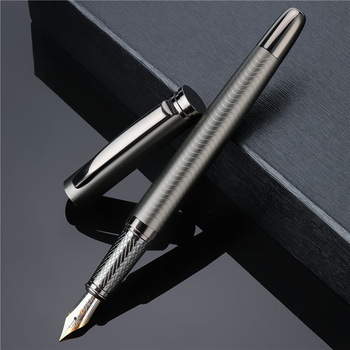 1PC High Quality Fountain Pen Luxury Business Writing Signing Calligraphy Ink Nib Pens Gift Box Office Stationary Supplies 03924