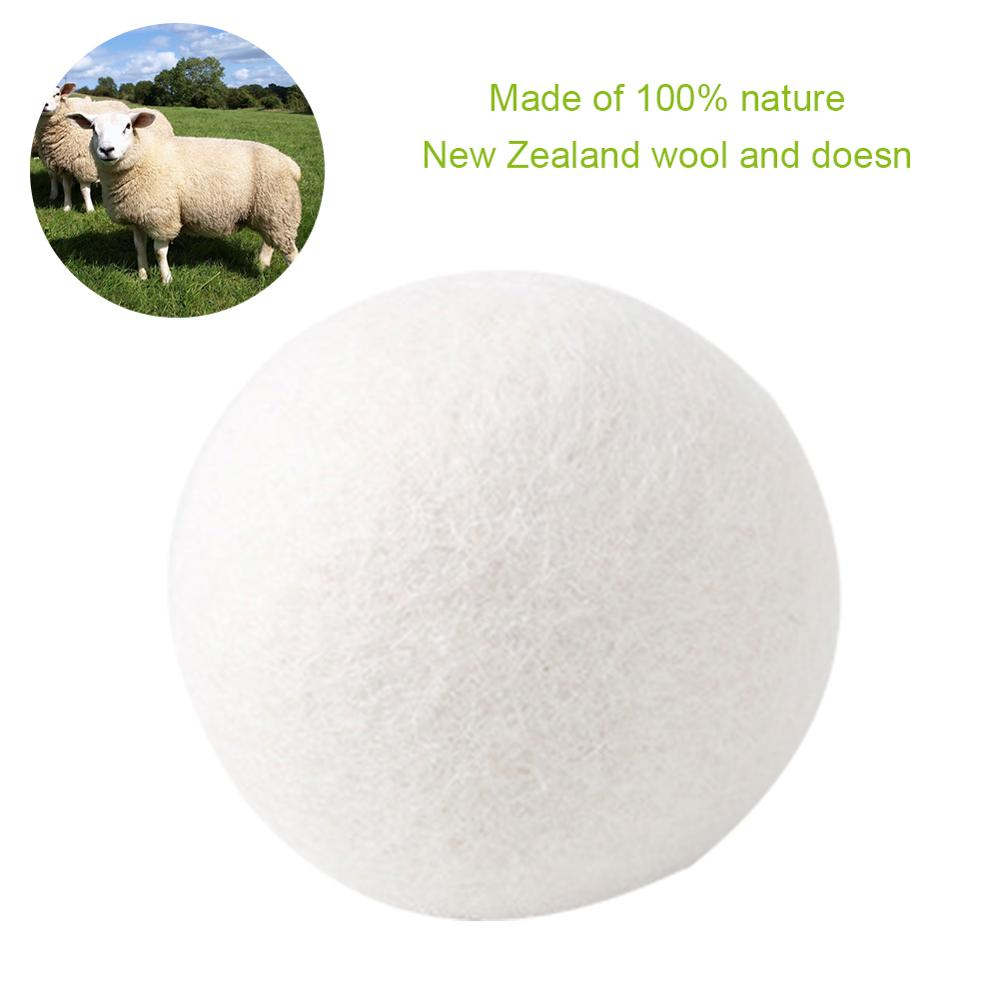6pcs Organic Hypoallergenic Wool Tumble Drying Balls, 100% Premium Wool - Reusable, Natural Fabric Softener - 5cm in diameter
