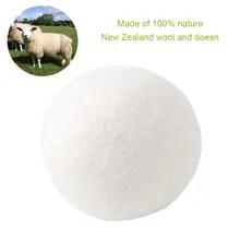 6pcs 유기 저자 극성 울 텀블 건조 공, 100% 프리미엄 울-재사용 가능, 천연 직물 유연제-직경 5cm