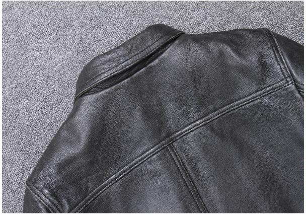 H2e08e5d0387341ac9280cd2e84f2c613n YR!Free shipping.sales.Clearance.$99.99 cowhide jacket.mens genuine leather coat.fashion vintage casual leather outwear.classic