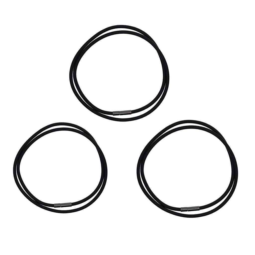 3mm stylowa czarna guma sznur naszyjnika Chaim z miedzi zapięcie naszyjnik łańcuchy biżuteria ustaleń