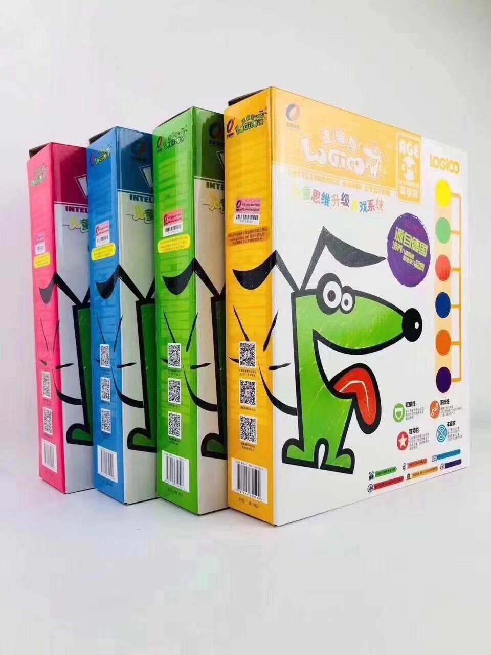 Logic Dog de Alemania Logico Kindergarten Home Material de enseñanza versión de juguete de educación temprana libro de imágenes, el crecimiento debe