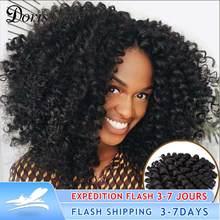 Doris beauty — Mèches pour femme, extensions capillaires, tressage au crochet, tresses, à bouches rebondies, de 8 pouces, cheveux synthétiques