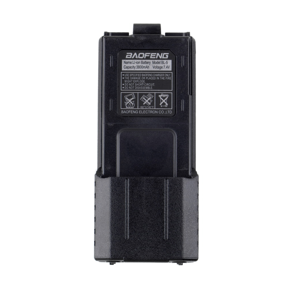 For Baofeng BL-5L 3800mah 7.4v Extended Li-Ion Battery Replacement & Backup Battery Power For Baofeng UV-5R Radio