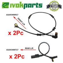 4pcs Front Rear L/R ABS Wheel Speed Sensor For MERCEDES BENZ GL M R Class X164 W164 W251 V251 GL320 GL350 ML350 ML320 R280 R320