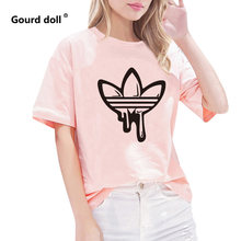 AD New Summer Women T Shirt o-neck Short Sleeve Funny kawaii casual women's t shirt Ladies Female tops tee clothes tumblr(China)