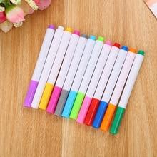 12 colors/lot Erasable LED Fluorescent Plate Highlighter Pen Chalk Marker Pens Glass Light Blackboard Painting Art Markers Pen