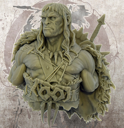 1/10 Ancient Man Warrior Bust With Sword    Resin Figure Model Kits Miniature Gk Unassembly Unpainted