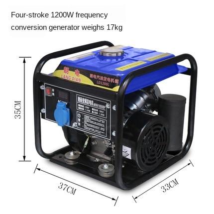 gerador portatil da gasolina do agregado familiar 1100w 220v volt pequeno mini carro 1kw do inversor