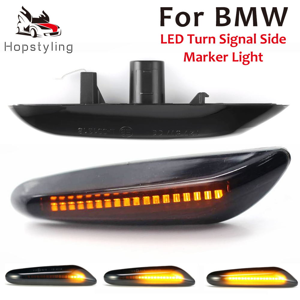 LED side marker turn signal indicator streamer for BMWX3 E83 X1 E84 X5 X53 1 3 5 series E60 E61 E46 E81 E82 E90 E92 E87 E88 image