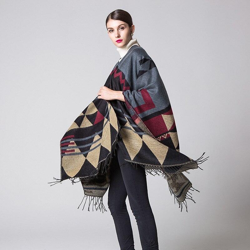 Кашемировые шарфы с кисточками женские шали Длинные осень зима сплошной цвет высокое качество