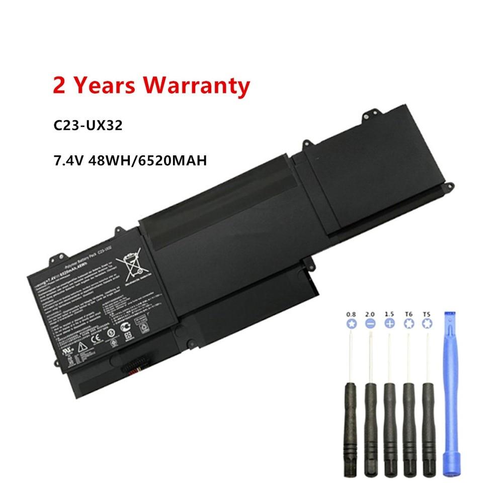7.4V 6520mAh Laptop Battery For ASUS VivoBook U38N U38N-C4004H ZenBook UX32 UX32A UX32VD UX32LA  C23-UX32