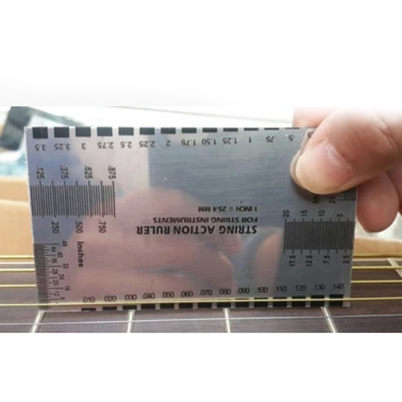 1pcs Guitar String Action Gauge String Pitch Ruler Suitable For String Instruments Such As Guitar Bass Mandolin  Banjo Etc