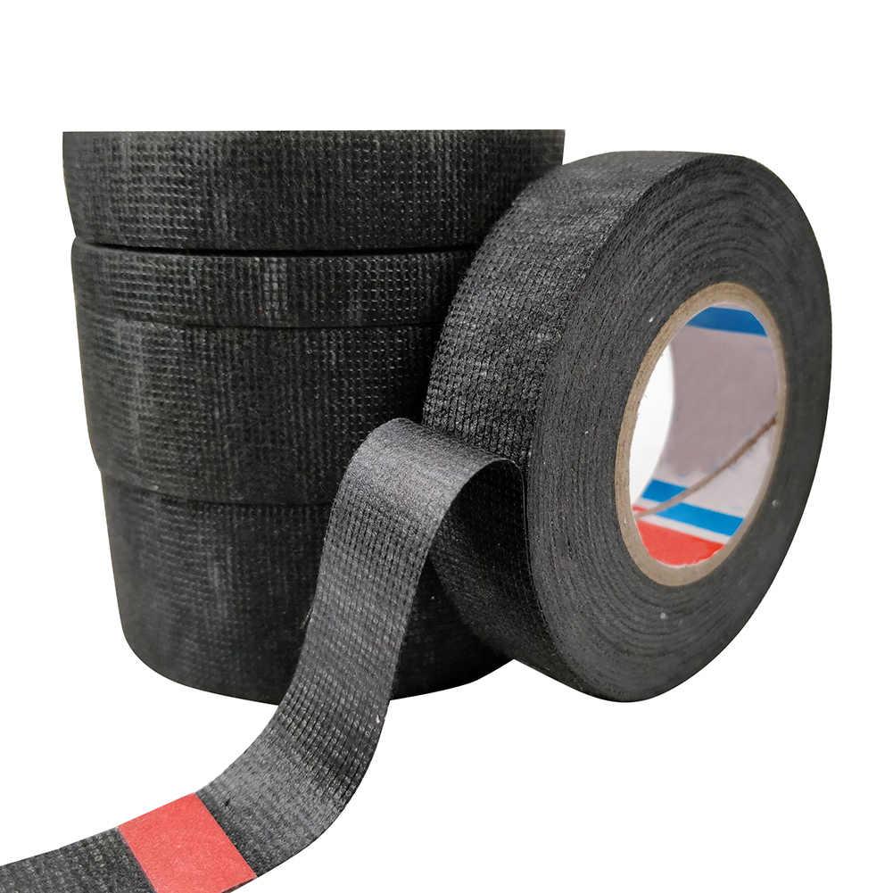 Nuovo 25m Rotolo di resistente Al Calore Cablaggio Nastro Isolante Telai Cablaggio del Panno del Tessuto Auto Auto-Adesivo cavo di Protezione