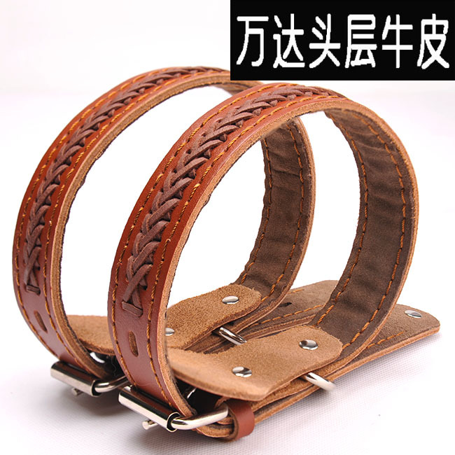 Cattle Hide Woven Lace Genuine Leather Dog Neck Ring Genuine Leather Pet Collar Collar Dog Collar