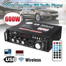 12V/ 220V BT-298A 2CH LCD Display Digital HIFI Audio Stereo Power Amplifier bluetooth FM Radio Car Home 600W with Remote Control