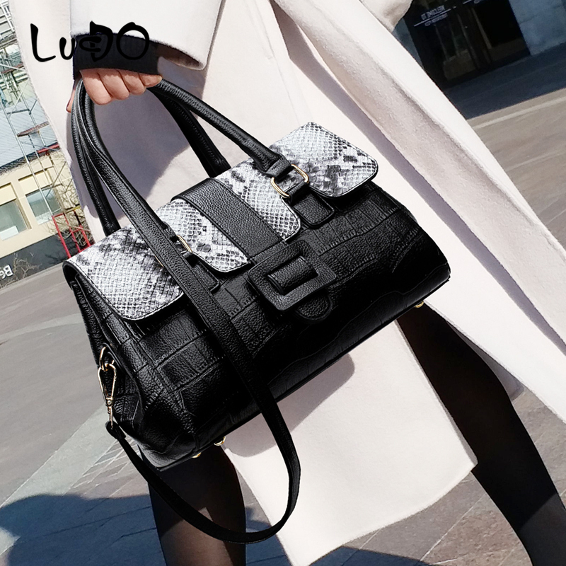 LUCDO 2020 new Fashion Luxury Handbags high quality leather designer shoulder bag ladies boston pillow messenger Crossbody bags