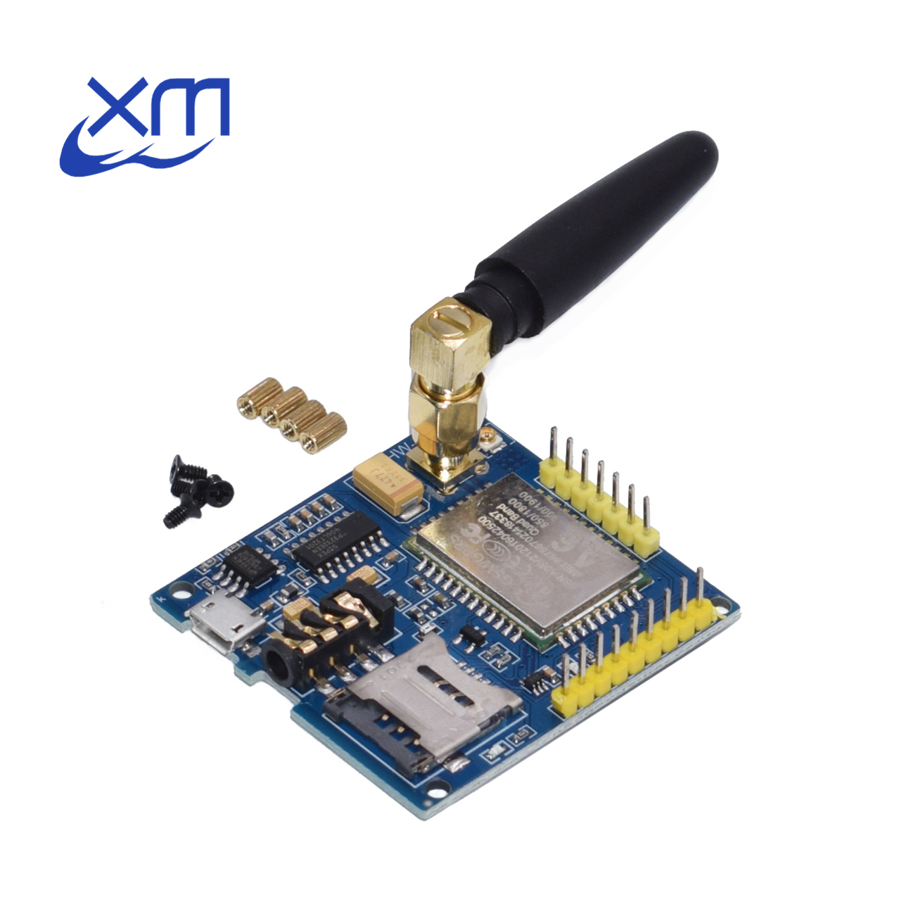 10*A6 GPRS Pro Serial GPRS GSM Module Core DIY Developemnt Board TTL RS232 With Antenna GPRS Wireless Module Data Replace SIM900-in Integrated Circuits from Electronic Components & Supplies