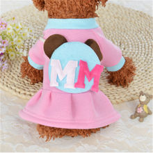 2019 Summer Pet Dog Dress High Quality  Clothes White Dotted Princess Cute