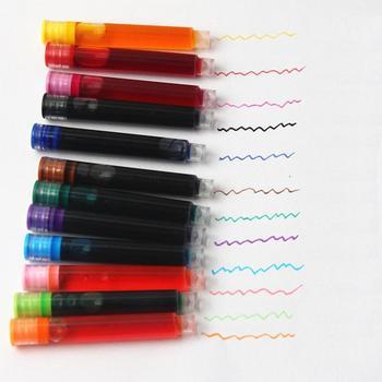 12 kolorów zestaw wkładów atramentowych zestaw wkładów atramentowych jednorazowe wkłady atramentowe do pióra wiecznego kolorowe pisanie biurowe zaopatrzenie szkolne śliczne artykuły papiernicze tanie i dobre opinie 6 lat 20 ml fountain pen ink bottle Kolor farby wody Na płótnie