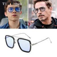 Gafas de sol de Tony Stark gafas de sol de hombre Retro Vintage Iron Man 3 gafas de sol de color rojo amarillo gafas de sol de 2019 para hombres W66218