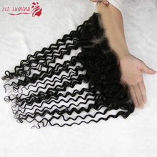 HD Transparent Deep Wave 13x4 Lace Frontal 4x4 5x5 Lace Closure Brazilian Remy Hair Pre Plucked 100% Human Hair HD Lace Closure