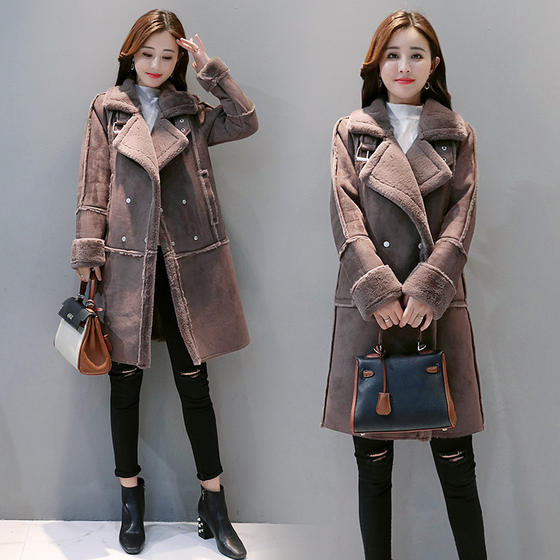 MV Spring and Autumn Korean Girls Coat Deerskin Jacket Short Coat Childrens