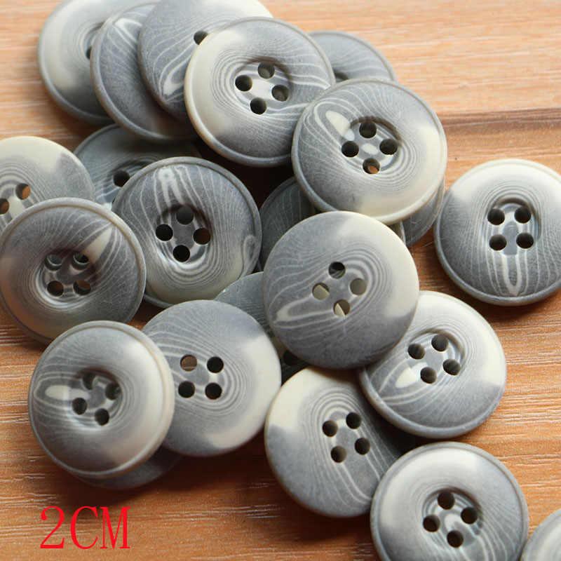 15 มม.15 pcs ผสมขนาดเล็กปุ่ม Lot สำหรับจักรเย็บผ้า Scrapbooking และ DIY Handmade CRAFT ที่แตกต่างกันสีและสไตล์