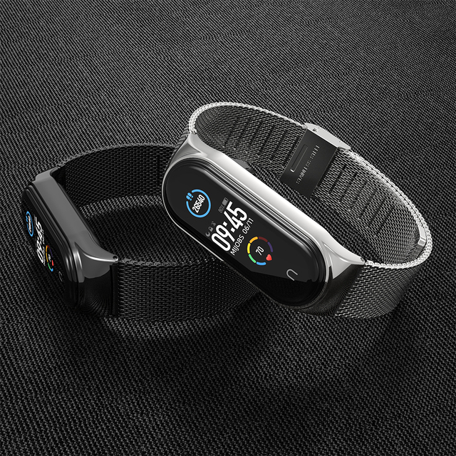 For Xiaomi Mi Band 5 Strap Miband 6 5 4 3 Metal Leather Bracelet Straps for Smart Watch Pulseira Correa for Xiomi NFC Wristbands 3