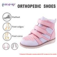Princepard 2019 новая ортопедическая обувь для детей с супинатором стельки с высоким задником O/X Ноги плоскостопия ноги коррекция уход