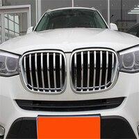 WELKINRY  cubierta de coche para BMW X4 2014 2015 2016 ABS cromado  cabezal frontal  ventilación de entrada de aire  moldura de rejilla