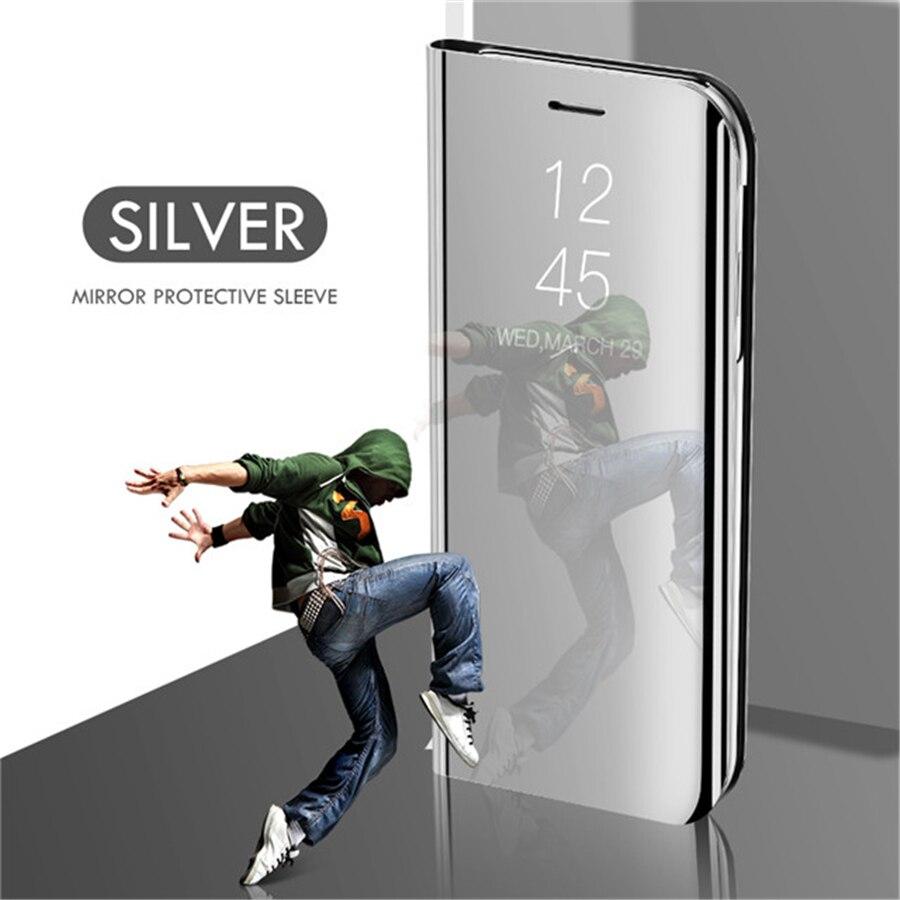 Smart mi rror чехол для телефона для Xiao mi Red mi Note 8 7 K20 5 6 iPad Pro 4 4X 8A 6 6A 7A Plus mi 9 SE 9T 8 Lite A1 A2 A3 5X 6X mi x 2 крышка - Цвет: Silver