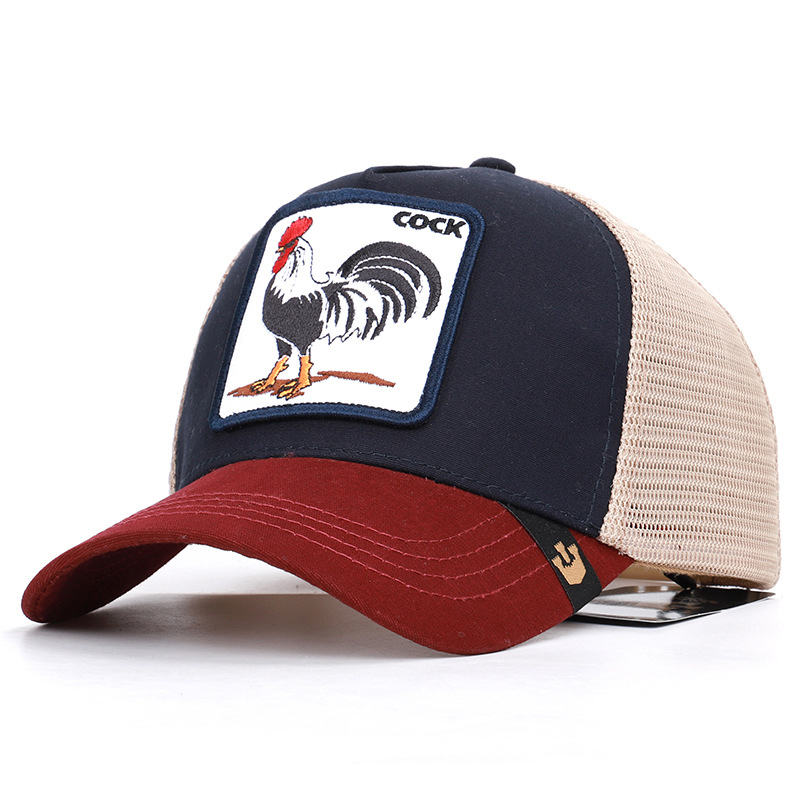 Kagenmo Mesh Baseball Cap Tiktok Hot Cool Hat Fashion All-Match Animal Sunhat Breathable Unisex Spring Casual Casquette