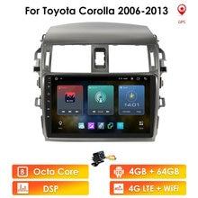 2 Din Quad Core Android 10 Car Radio Multimedia Player For Toyota Corolla E140 E150 2006 2013 SWC Bluetooth Stereo GPS Navi WIFI