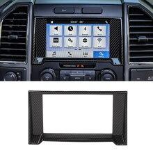 Car Interior Navigation Decor Cover Trim GPS Sticker Decal for Ford F150 2015 2016 2017 2018 2019 2020 Accessories Carbon Fiber