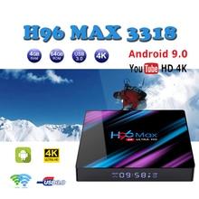 Media-Player Tv-Box Android-Box Wifi RK3318 H96 Max 4K 64-Bit BT4.0 Quad-Core WiFi 2.4G/5G 4GB Ram32GB 64GB Rom tv boxes x96 цена в Москве и Питере