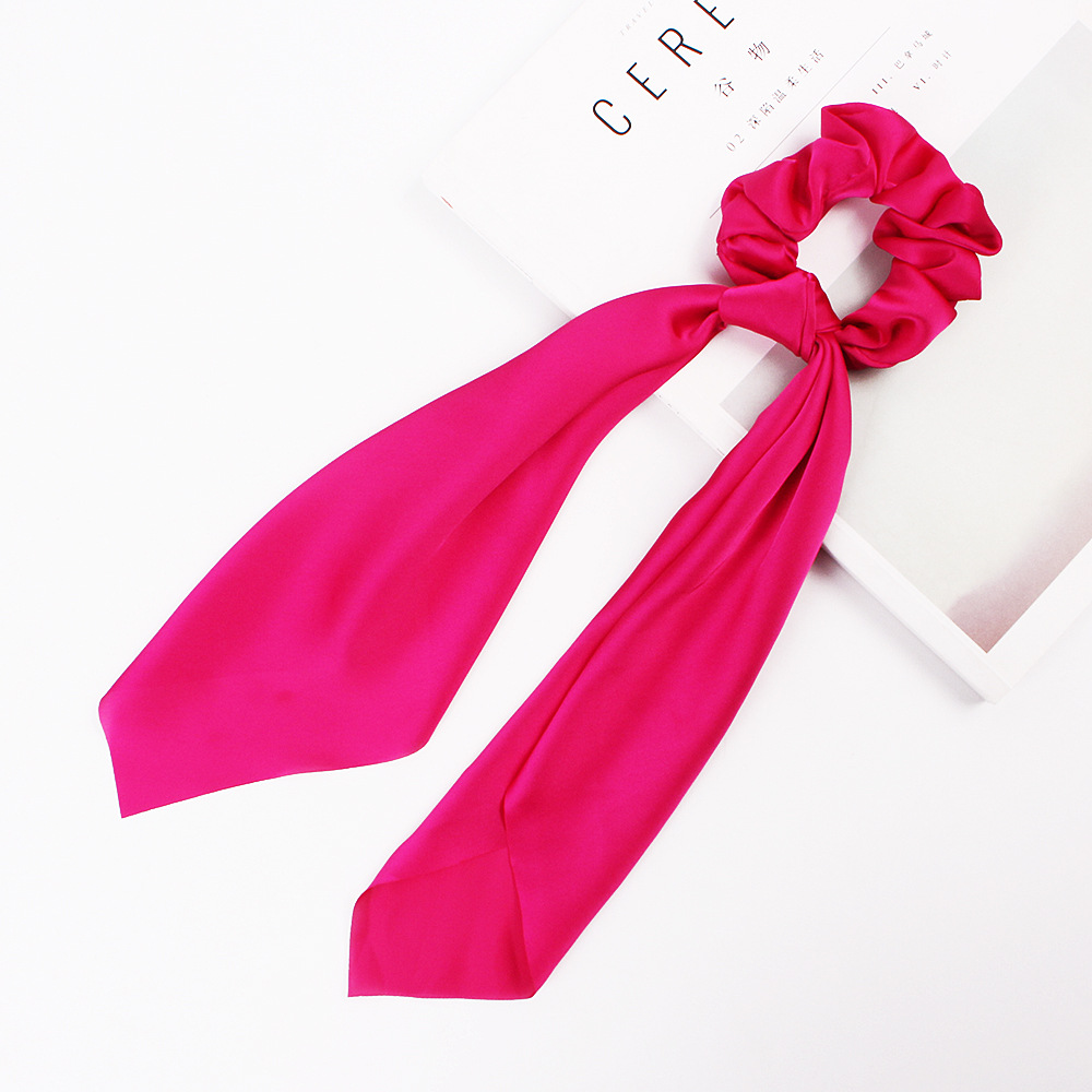 H2e0bd11abcdf4e1580dca33eb051c063O - Fashion Silk Satin Summer Ponytail Scarf Stripe Flower Print Ribbon Hairbands Hair Scrunchies Vintage Girls Hair Accessoires