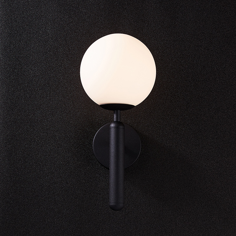 H2e0be8fba3934f3ca9a0207f2c23c2a49 - Decorative Led Wall Lights Fixtures Nordic Glass Ball Wandlamp Up Down Bathroom Mirror light Gold Black Modern Round Wall Lamp