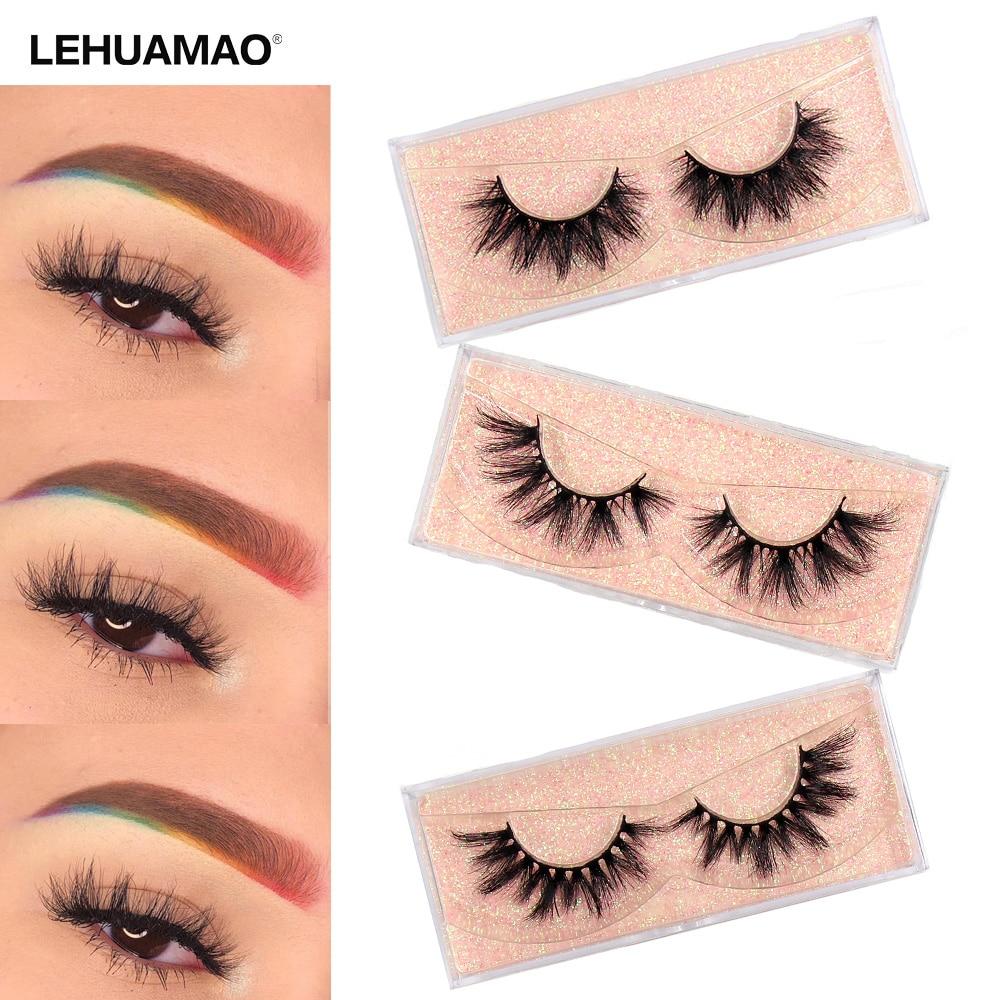 LEHUAMAO Makeup 3D Mink Lashes Natural False Eyelashes Dramatic Volume Fake Lashes Makeup Eyelash Extension Soft Eyelashes