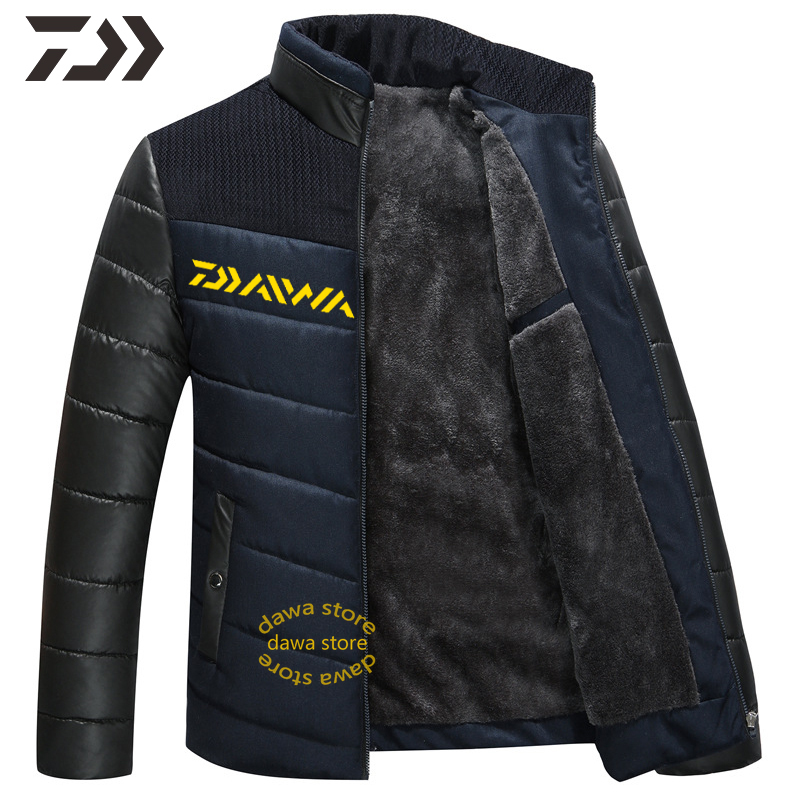 Fishing Clothing Daiwa Jacket Men  Autumn Winter Fishing Shirt Men's Winter Jacket Thick Camping Outdoor Clothing Hiking Jacket