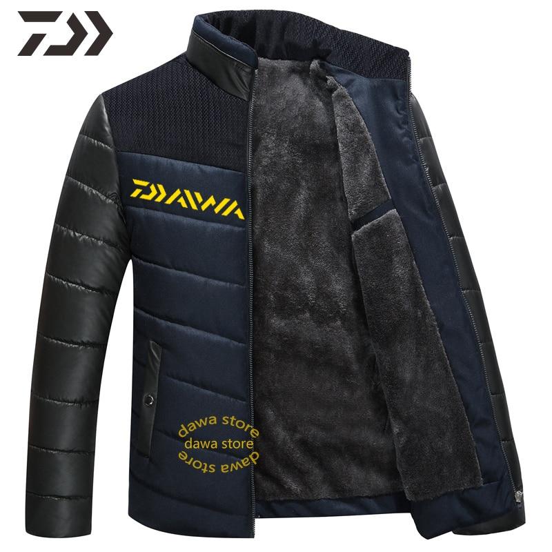roupas de pesca daiwa jaqueta masculina outono inverno camisa de pesca jaqueta de inverno grosso acampamento