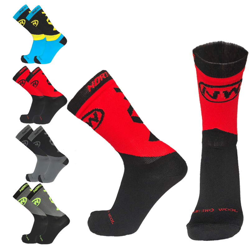 Unisex Pro Autumn and Winter Cycling Socks Men Women Warm Bike Socks Ski Socks