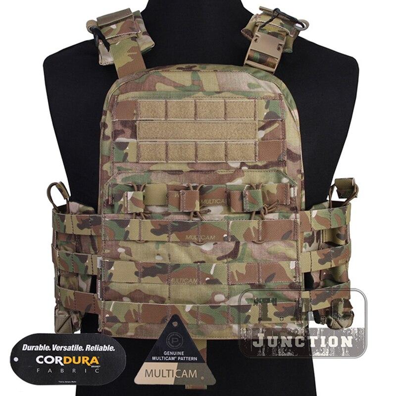 Emerson Tactical MOLLE Adjustable Vest Navy CAGE Plate Carrier NCPC Vest EmersonGear Doffing Versatile Armor Vest W/Cummerbund
