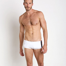 Direct Selling Men's Sexy Low-waisted White Boxers Fitness Fast Dry Hot Spring Winter Swimming