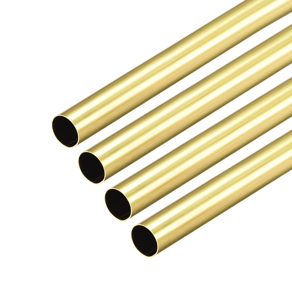 Uxcell 1-4pcs 1mm 2mm 3mm 4mm 5mm 6mm 7mm 8mm OD Brass Round Tube 0.2mm ID Seamless Straight Pipe Tubing 300mm Length