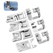 LMDZ 7 Pcs Hemming Foot Kit - 3 Pcs Narrow Rolled Hem Sewing Machine Presser Foot, 3 Pcs Wide Hem Presser Foot