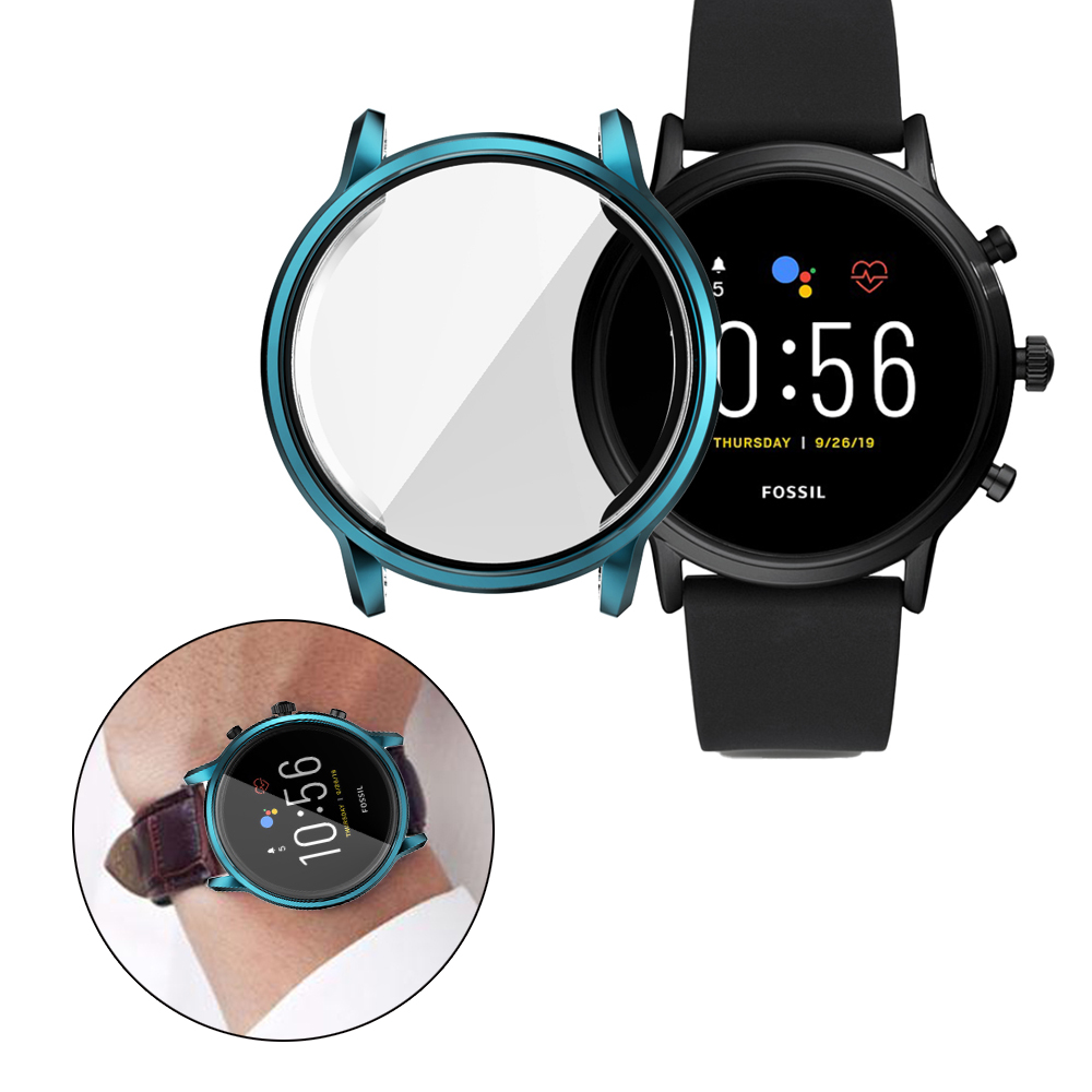 Protective Case For Fossil Gen 5 Carlyle Smart Watch Cases Cover For Fossil Gen 5 Carlyle Smartwatch TPU Plating Cover Woman